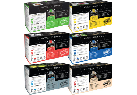 Back panels of Mixed Case of 6 Boxes of a variety of Bigelow Black Teas