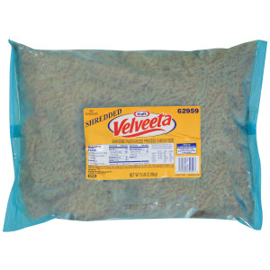 Velveeta Shredded Pasteurized Process Cheese Food 4 - 80 oz Pouches image