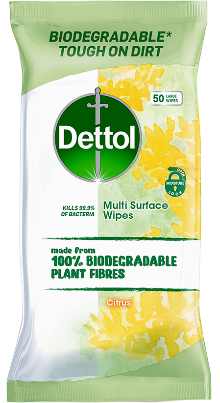 Dettol Biodegradable Multi-Surface Wipes Citrus