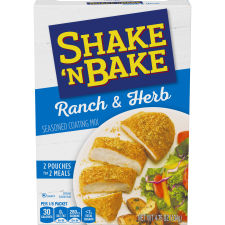 Shake 'N Bake Ranch & Herb Seasoned Coating Mix, 2 ct Packets