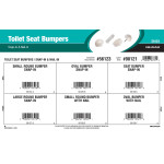 Toilet Seat Bumpers Assortment (Snap-In & Nail-In)