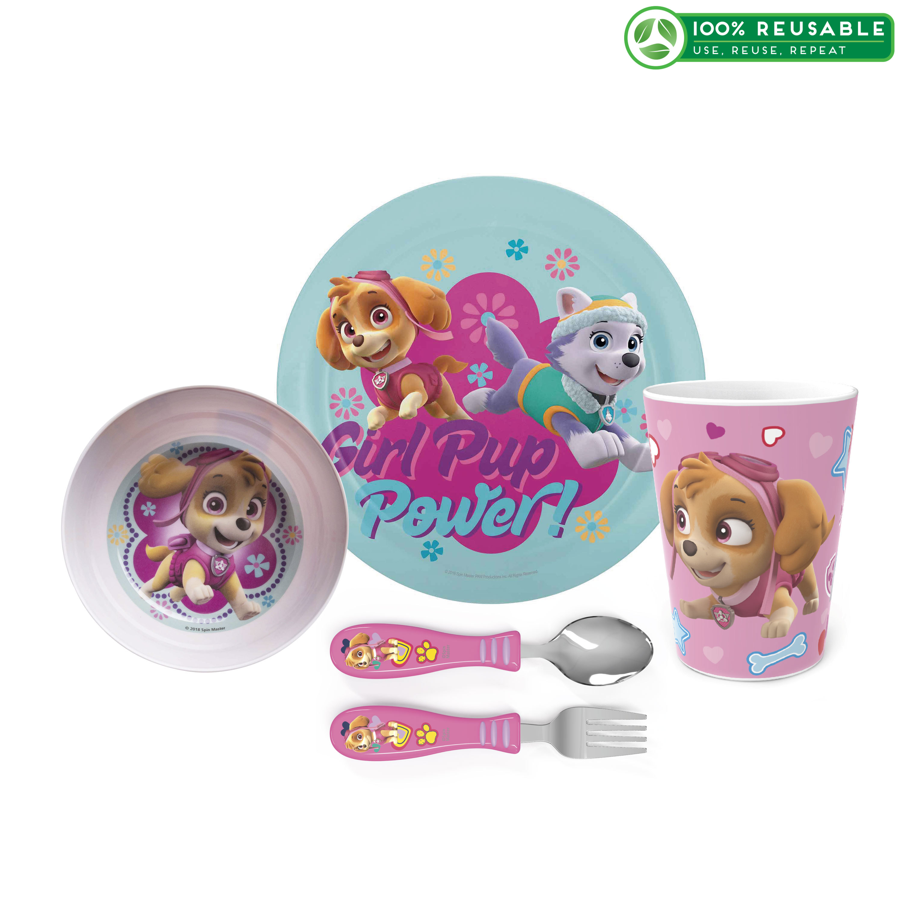 Paw Patrol Dinnerware Set, Skye and Everest, 5-piece set image