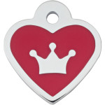 Red Epoxy Crown Small Heart Quick-Tag