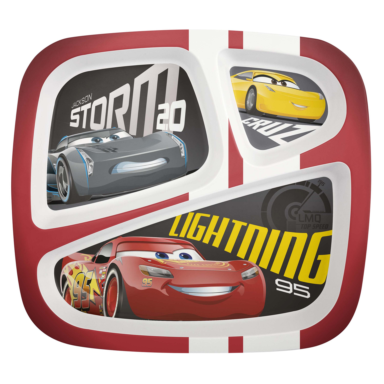 Cars 3 Kids Divided Plate, Lightning McQueen & Cruz Ramirez slideshow image 1