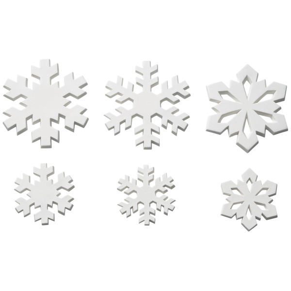 Snowflakes Assortment Gum Paste Layon