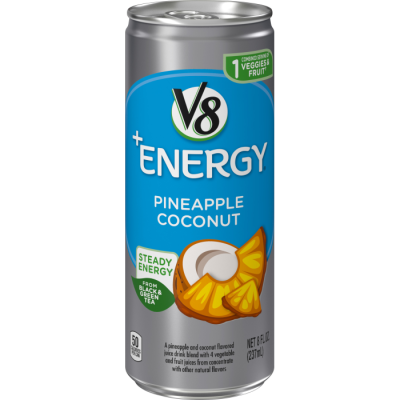 Healthy Energy Drink, Natural Energy from Tea, Pineapple Coconut