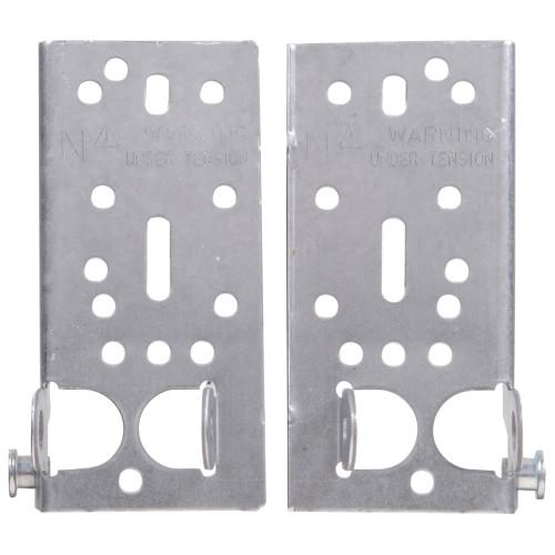 Hardware Essentials Galvanized Bottom Lift & Roller Brackets (L&R) 6in.
