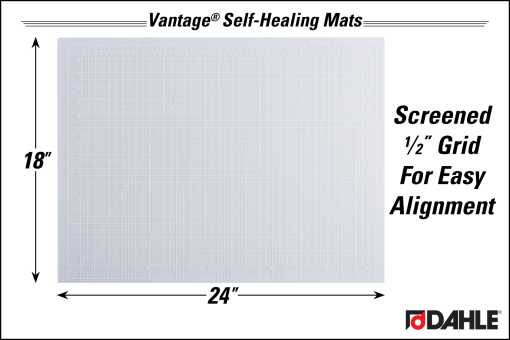 """Dahle Vantage® 18"""" x 24"""" Self-Healing Cutting Mat, Clear - InfoGraphic"""