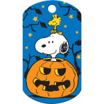 Snoopy Pumpkin Large Military ID Quick-Tag