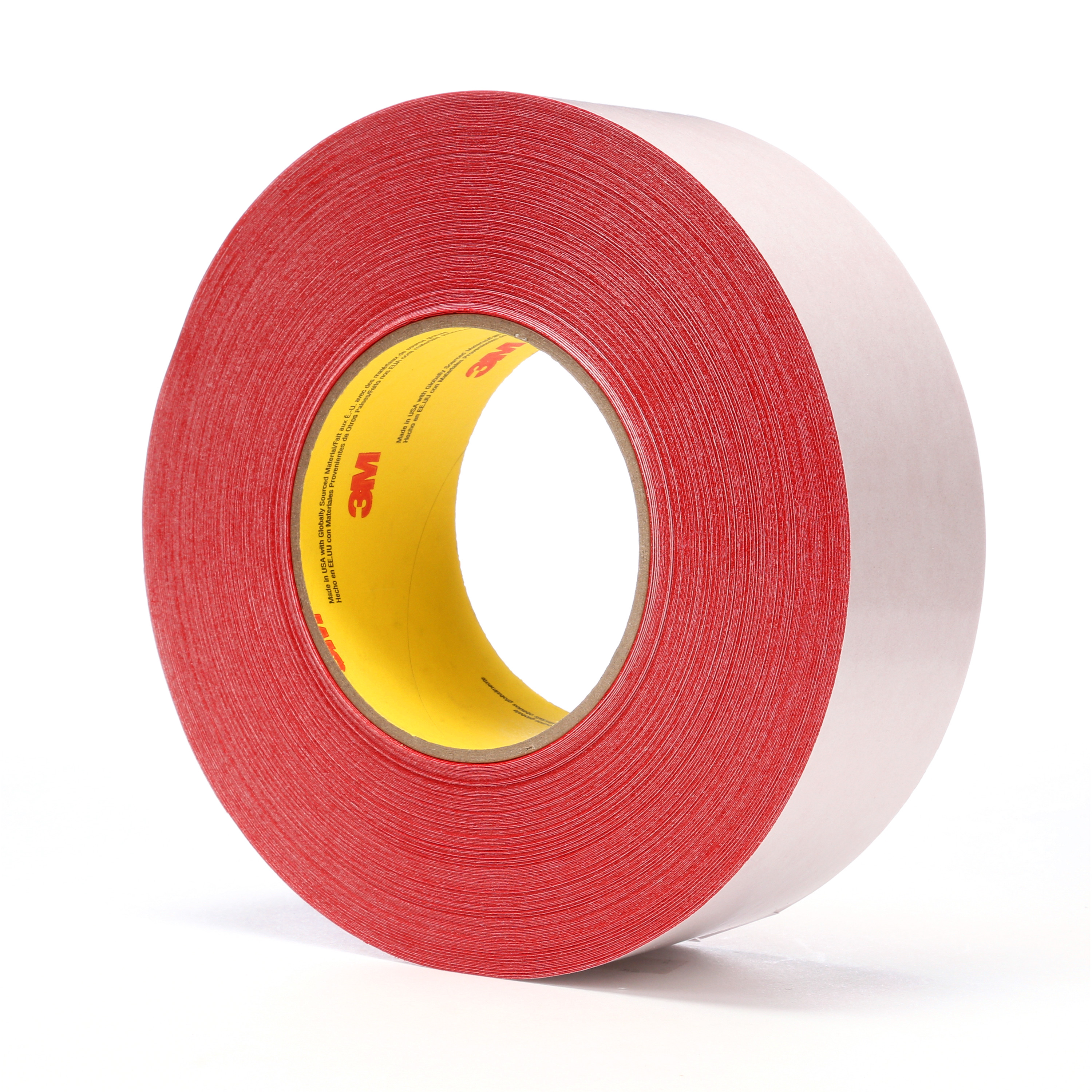 3M™ Double Coated Tape 9741R, Red, 48 mm x 55 m, 6.5 mil, 24 rolls per case
