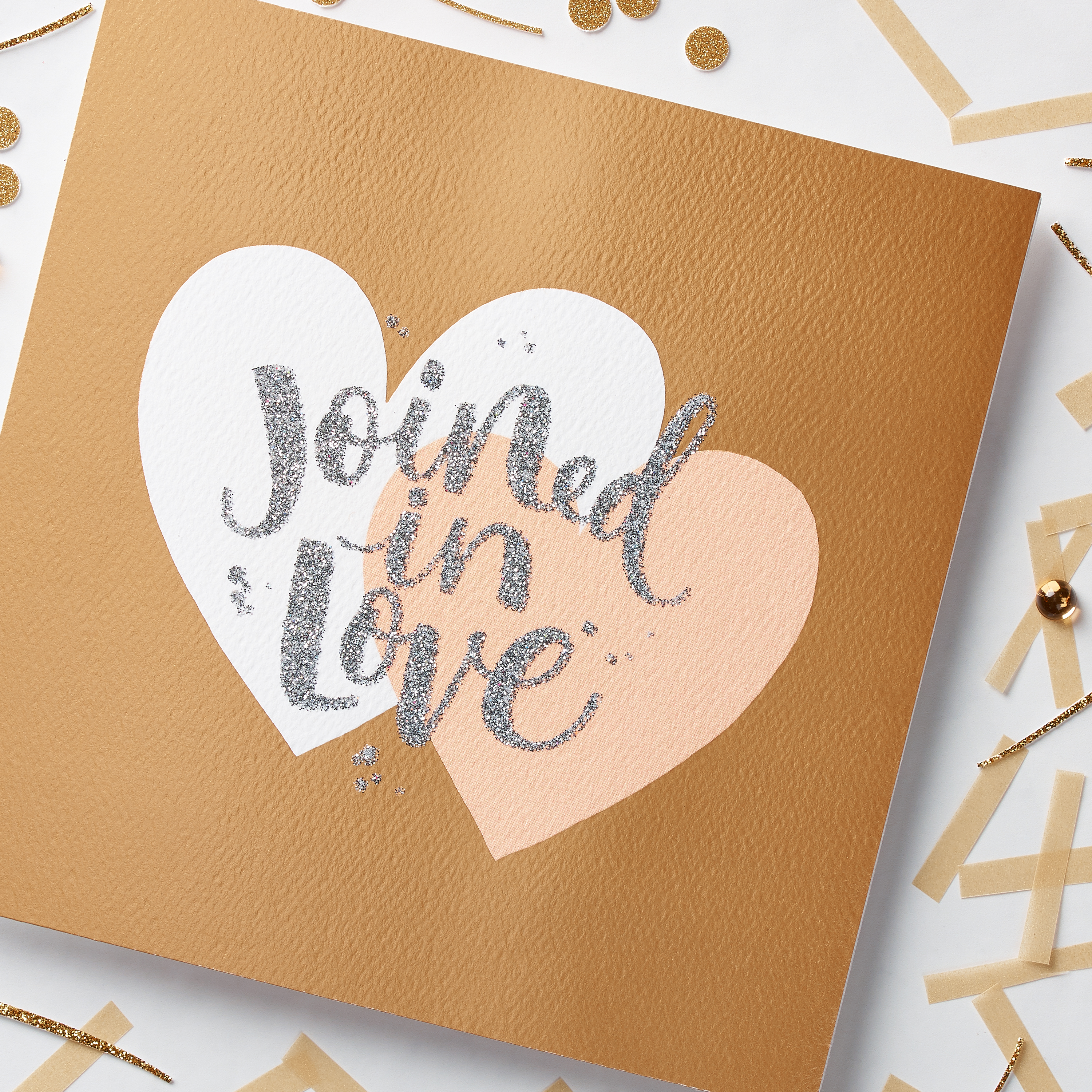 Joined In Love Congratulations Card image