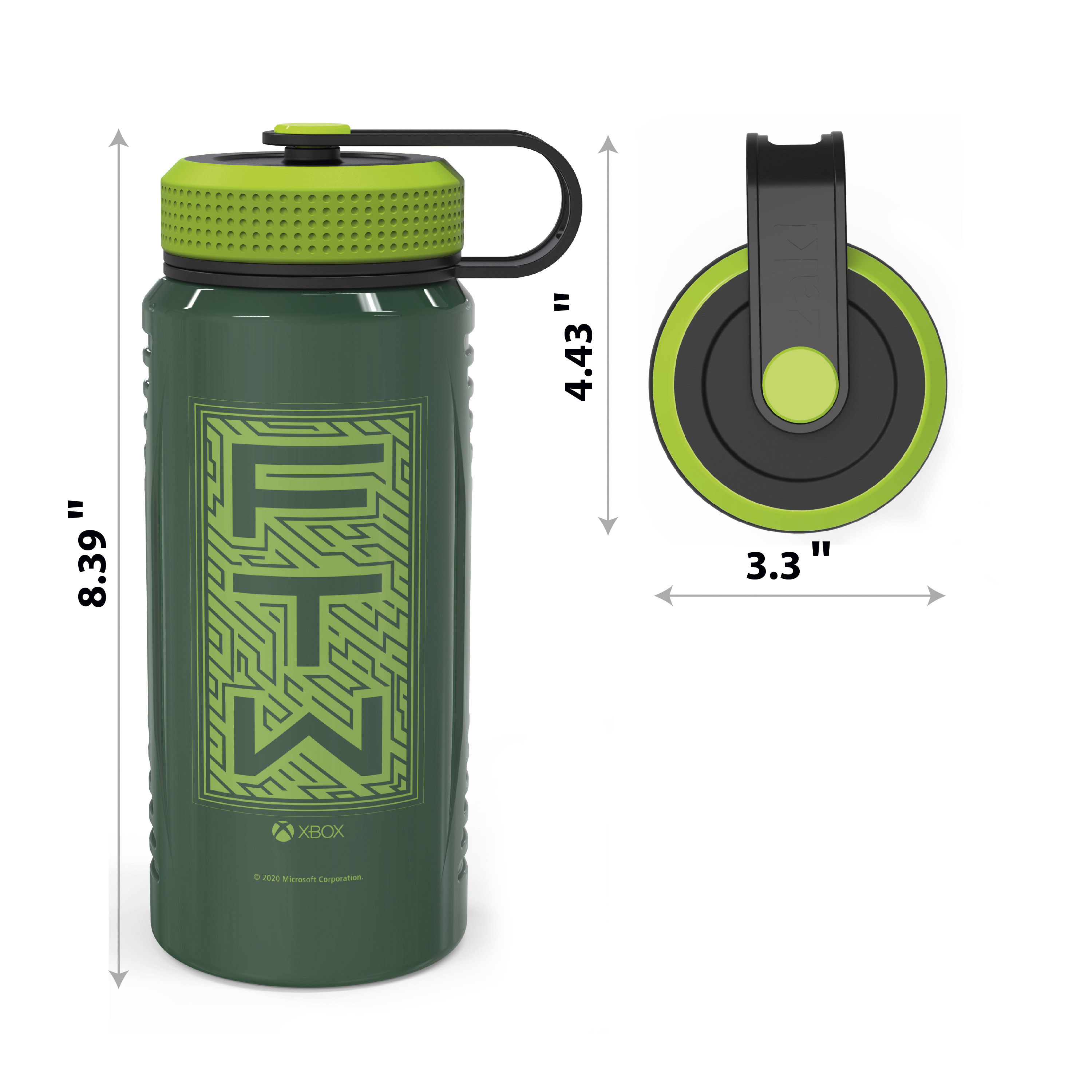 Xbox 24 ounce Stainless Steel Insulated Water Bottle, For the Win slideshow image 8