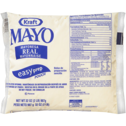 KRAFT Real Mayonnaise, 32 oz. Pouches (Pack of 16)