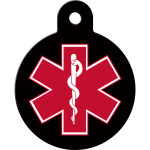 Large Circle Medical ID Quick-Tag