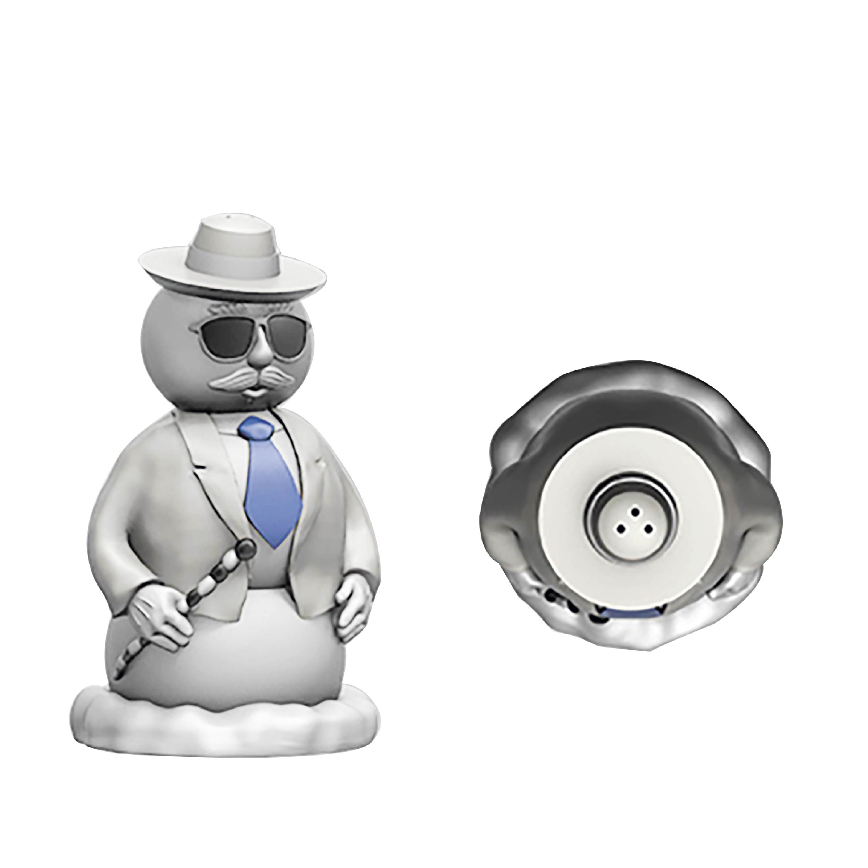 Christmas Collectibles Salt and Pepper Shaker Set, Elf & Snowman, 2-piece set slideshow image 3