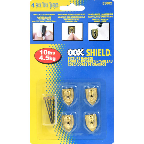 OOK Wall Protector Shield Hanger 10lb 4 Pack