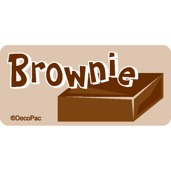 Brownie Promotional Label