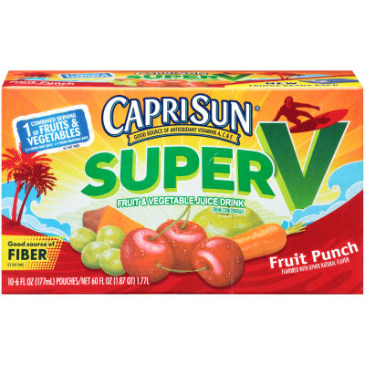 Capri Sun SuperV Fruit Punch 10 - 6 fl oz Pouches