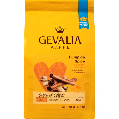Gevalia Pumpkin Spice Ground Coffee 8 oz Bag
