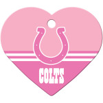 Indianapolis Colts Pink Chrome Large Heart Quick-Tag