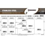 "Stainless Steel Socket-Head Cap Screws Assortment (1/4""-20 Thread)"