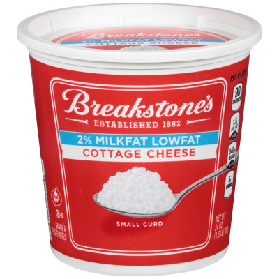 Breakstone's Small Curd 2% Milkfat Lowfat Cottage Cheese 24 oz Tub