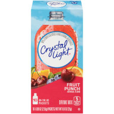 Crystal Light On-The-Go Fruit Punch Drink Mix, 10 Packets (Pack of 6)