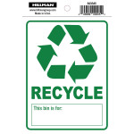 "Adhesive Recycle Sign (4"" x 6"")"