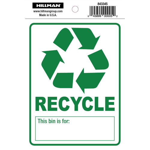 Adhesive Recycle Sign, 4