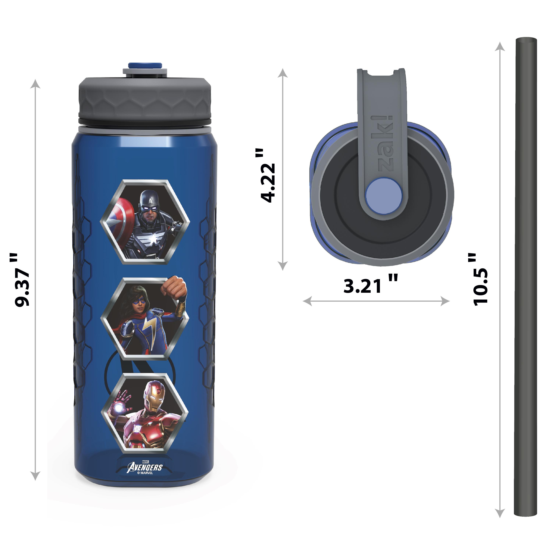 Marevel Comics 36 ounce Reusable Plastic Water Bottle, The Avengers slideshow image 5
