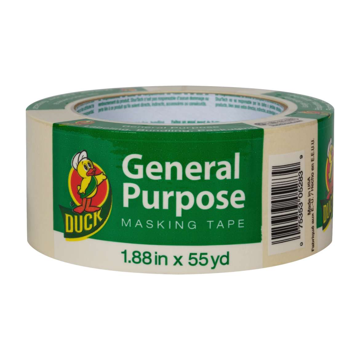 Duck® Brand General Purpose Masking Tape - Beige, 1.88 in. x 55 yd. Image