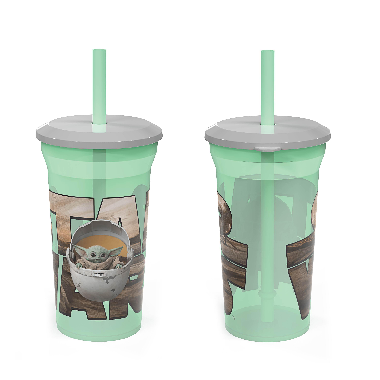Star Wars: The Mandalorian 14 ounce Kids Reusable Tumblers with Straws, The Mandalorian, 2-piece set slideshow image 6