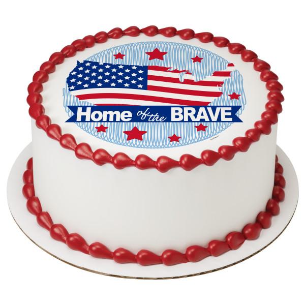 Patriotic Round PhotoCake® Edible Image®