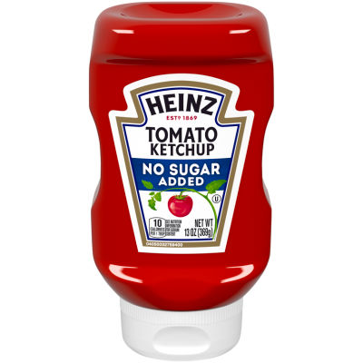 Heinz Tomato Ketchup, No Sugar Added, 13 oz Bottle