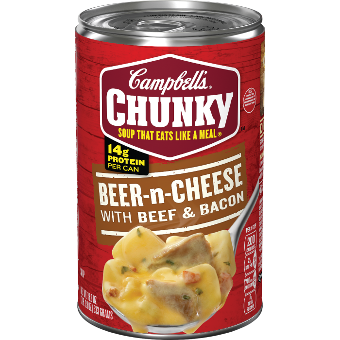 Beer-n-Cheese with Beef & Bacon Soup