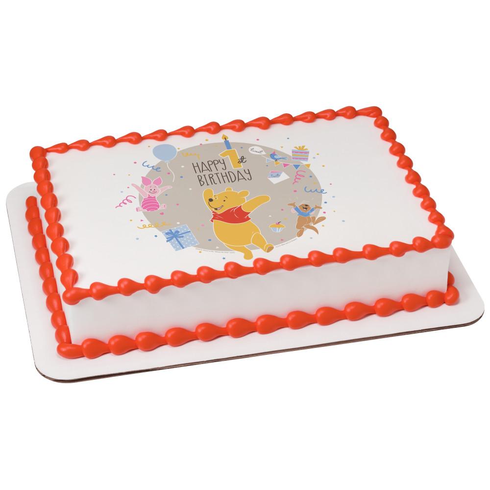 Disney Baby Winnie the Pooh Happy 1st Birthday