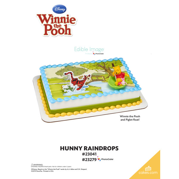 Winnie the Pooh Pooh, Piglet & Tigger Hunny Raindrops DecoSet® The Magic of Cakes® Page