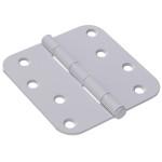 "Hardware Essentials 5/8"" Round Corner White Door Hinges (4"")"