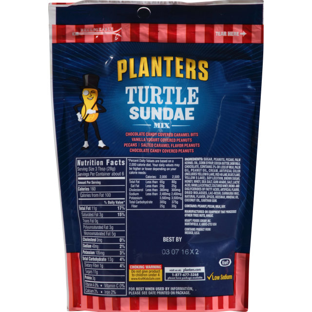 PLANTERS Turtle Sundae Mix 6 oz Bag