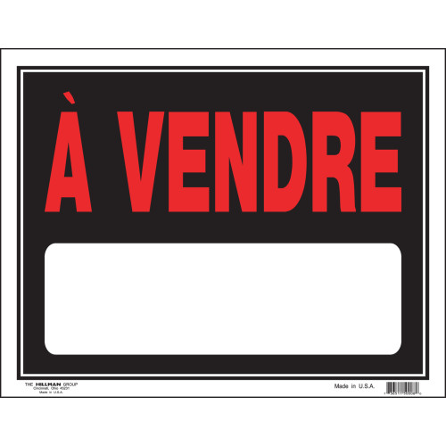 French For Sale Sign (15