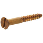 Brass Flat Head Slotted Wood Screws