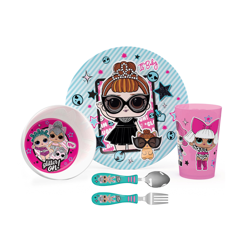 LOL Surprise Dinnerware Set, Glitter ON!, 5-piece set slideshow image 1