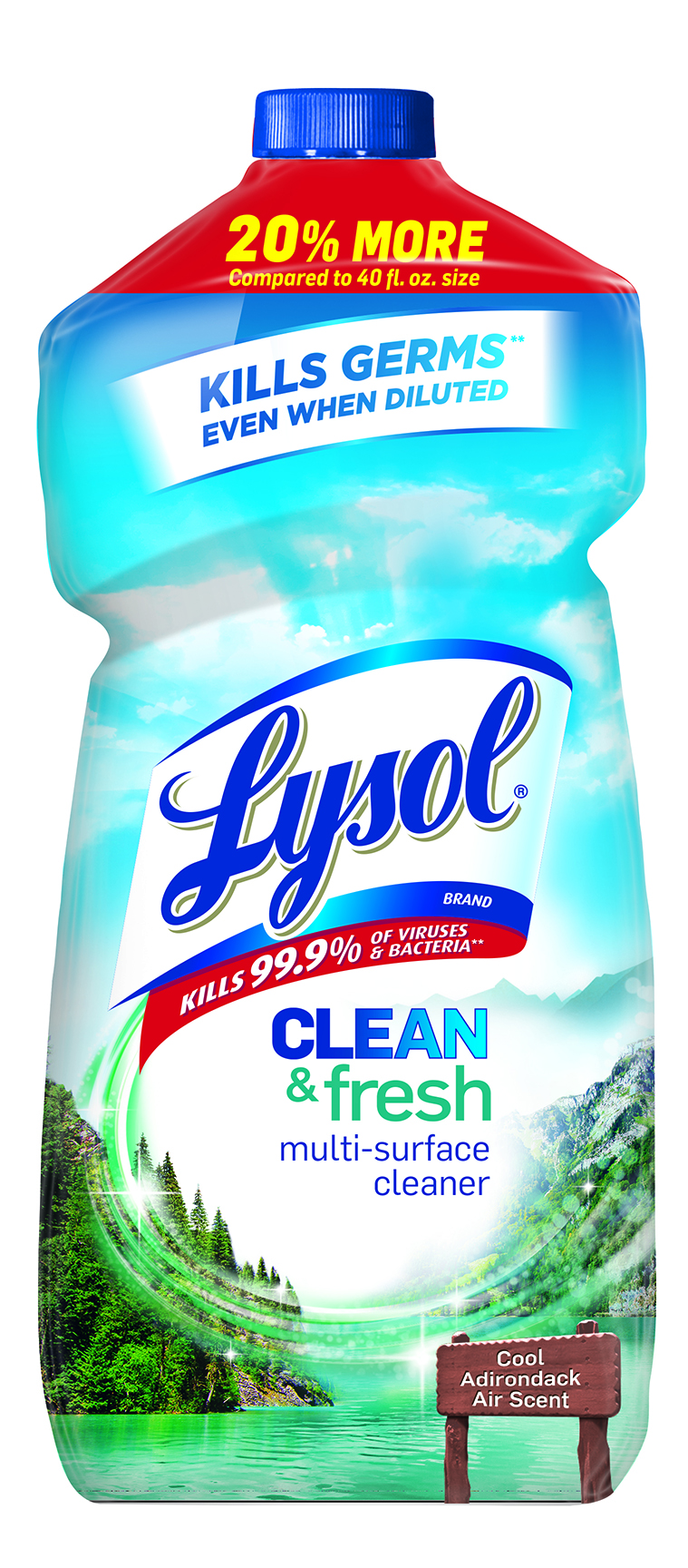 Lysol Clean & Fresh Multi-Surface Cleaner, Cool Adirondack Air, 48oz