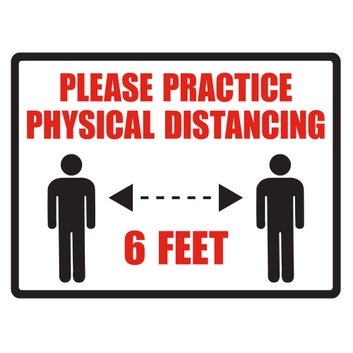 Hillman Practice Physical Distancing Sign (4