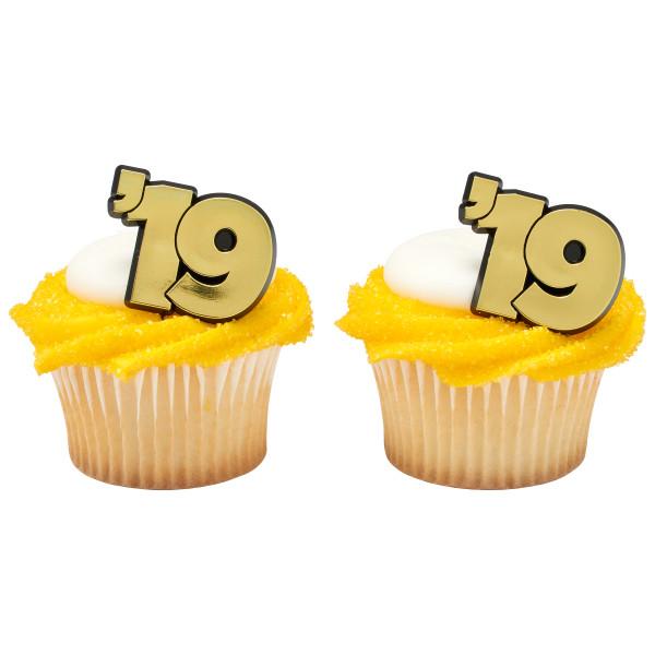 Graduation 19 Cupcake Rings