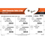 "Nickel-plated Joint Connector Bolts & Nuts Assortment (1/4""-20 Thread Size)"