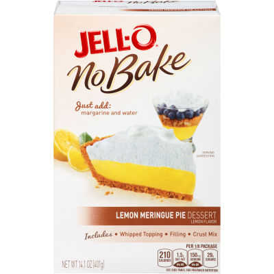 Jell-O No Bake Lemon Meringue Pie, 14.1 oz Box