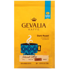 Gevalia Dark Roast Ground Coffee 8 oz Bag