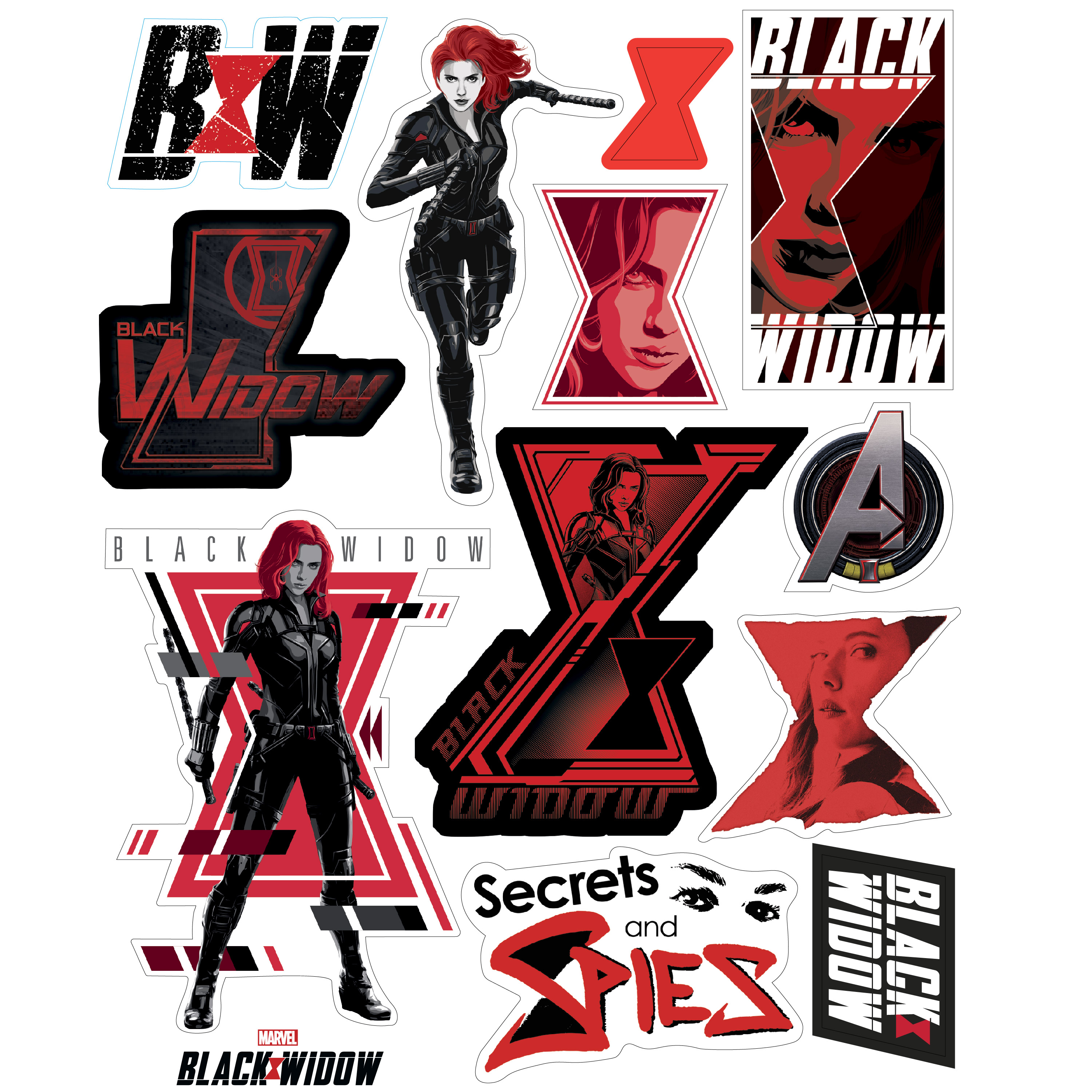Marvel Comics 20 ounce Insulated Tumbler with Stickers, Black Widow slideshow image 4