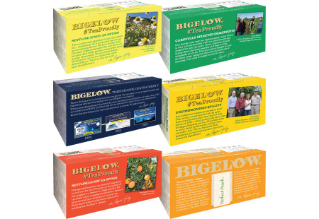 Top of boxes of Mixed Case of Herbal Teas - 6 boxes